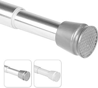 bomoe Barra para Cortina de Ducha Regulable Neptun - Sin taladrar - 70-120 cm - Cromo - Barra telescópica Ajustable - Extensible de Forma Continua por enrosque - también como Barra Extensible de Ropa