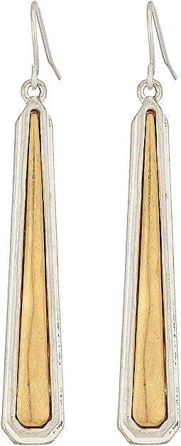 The Sak - Inlay Paddle Drop Earrings