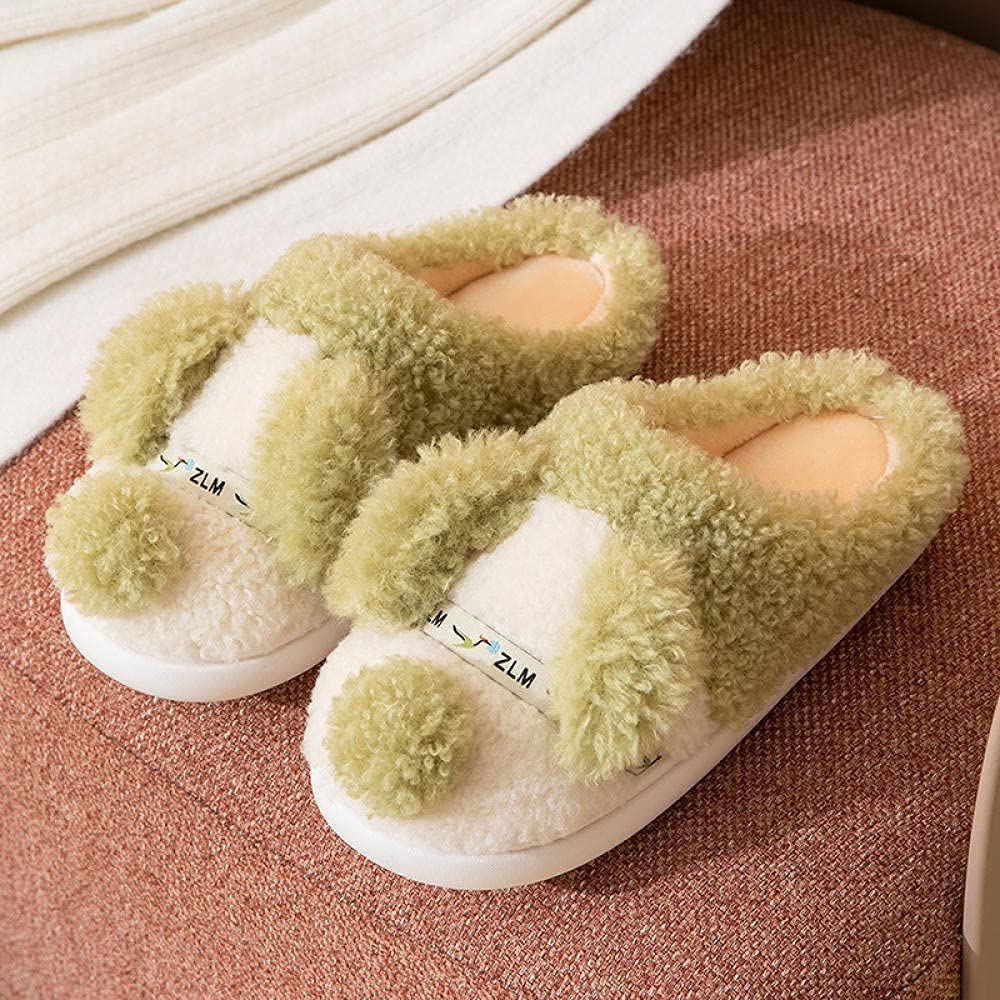 Beautiful Winter Home Plush Indoo Slippers Super popular specialty store ,Cotton Max 77% OFF