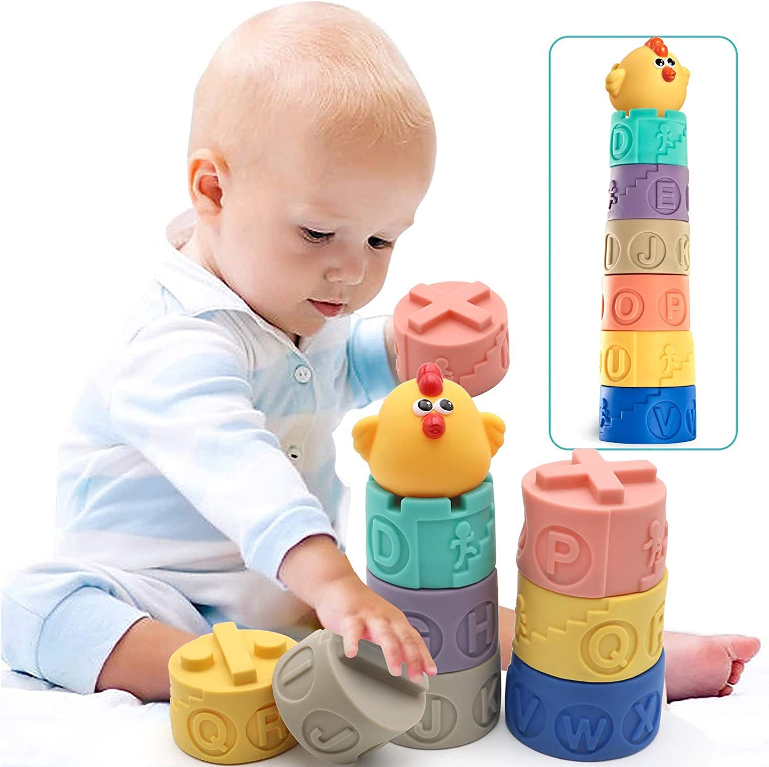Max 85% OFF Luxury goods Soft Colorful Stacking Blocks,Building for Blocks Toddler