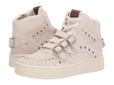 COACH C219 High Top Sneaker (Chalk Suede) Women