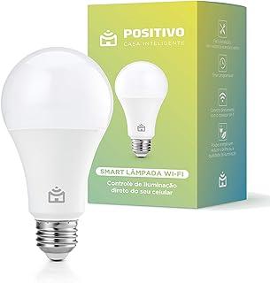 Smart Lâmpada Wi-Fi, Positivo Casa Inteligente, LED 9W, Bivolt comajuste de intensidade, controlado via celular, Compatíve...