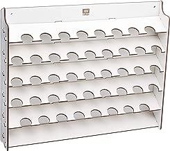 CUTICATE Wood Paint Bottle Rack Model Organizer Brushes Tools Storage Stand Holder
