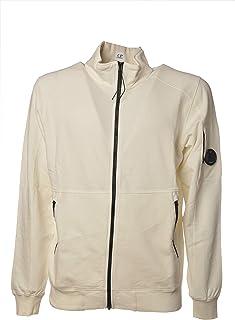 C.P. COMPANY Long Zip Sweatshirt Side Pockets 7615044018534 Cream Size