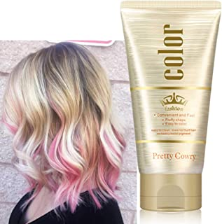 Tymczasowy wosk do włosów dla mężczyzn i kobiet, profesjonalna farba do włosów, wosk różowy, naturalny kolor do włosów, ma...