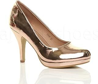 Ajvani Women's Mid Heel Court Shoes Pumps Size