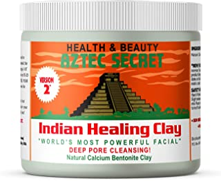 Aztec Secret – Indian Healing Clay 1 lb – Deep Pore Cleansing Facial & Body Mask – The Original 100% Natural Calcium Bentonite Clay – New Version 2