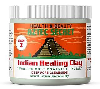 Aztec Secret  Indian Healing Clay 1 lb  Deep Pore Cleansing Facial & Body Mask  The Original 100% Natural Calcium Bentonite Clay  New Version 2