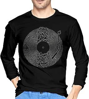 Joy Division Men Classic Cotton Long Sleeve Pattern T-Shirt Black