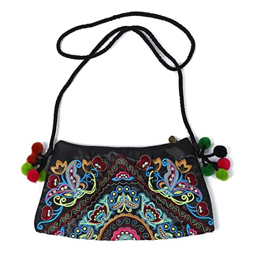 79bad8cc1a Messenger bag - SODIAL(R) Embroidered bags handmade fabric embroidery one shoulder  cross-