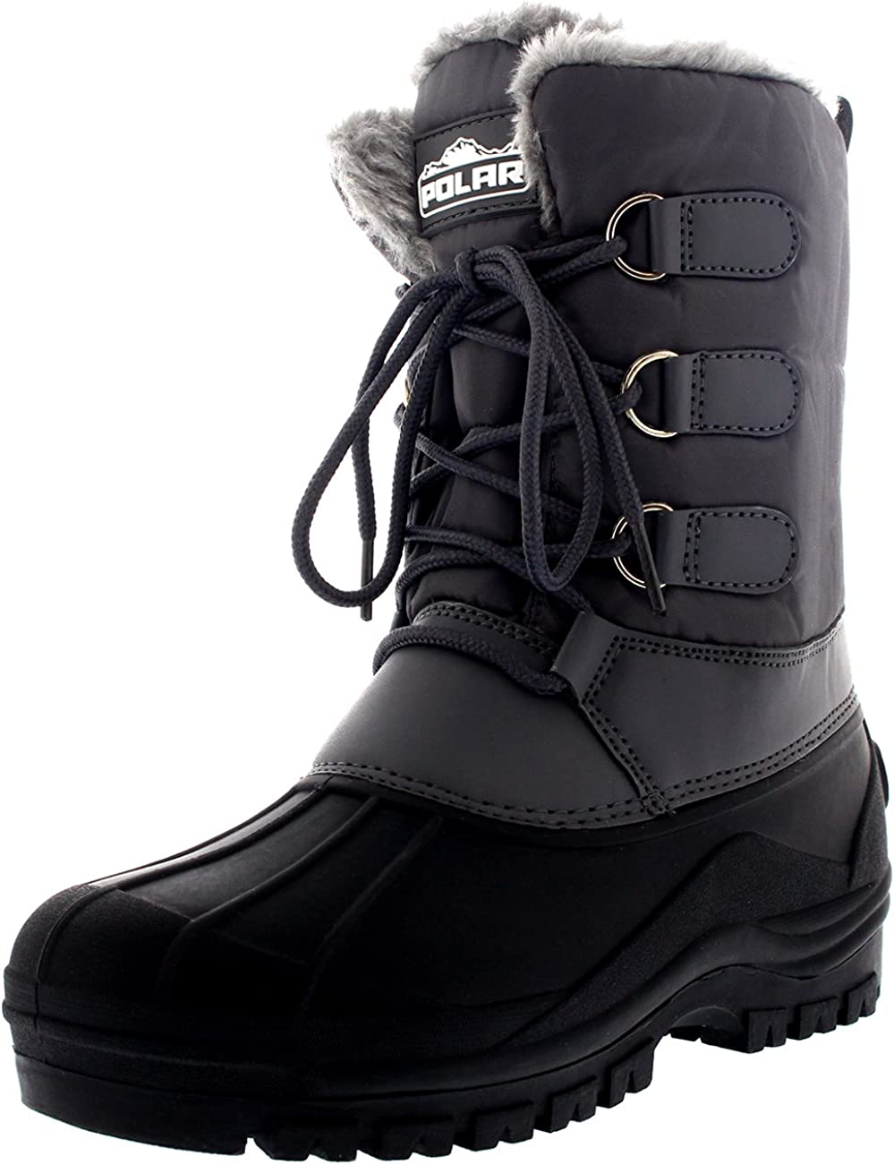 POLAR Womens Hiking Duck Winter Walking Mid Calf Muck Thermal Quilted Boots