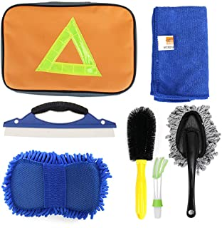 LEIWOOR Car Wash Mitts Extra Large Size Winter Water Proof Premium Chenille Microfiber Car Wash Mitt Lint Scratch Green_2_Pack Car Care