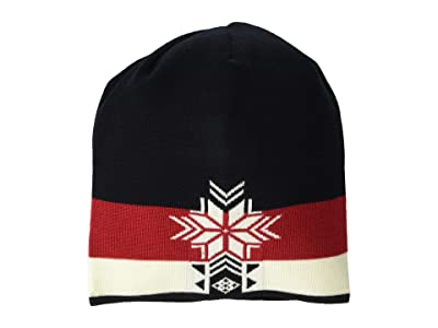 Dale of Norway Geilolia Hat (Black/Raspberry/Off-White) Beanies