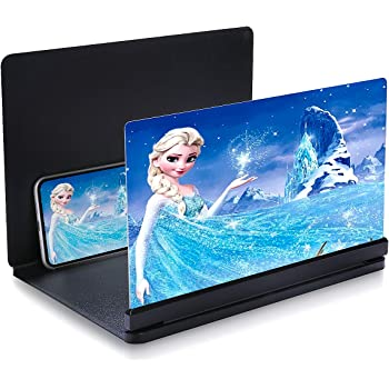 2 Pcs 12 inch Foldable Screen Amplifiers for Smart Phone Video and Playing Games Enlarge Screens Stand Holder for Watching Movie Pack of 2, Black /& White Cell Phone Screen Magnifier Reading