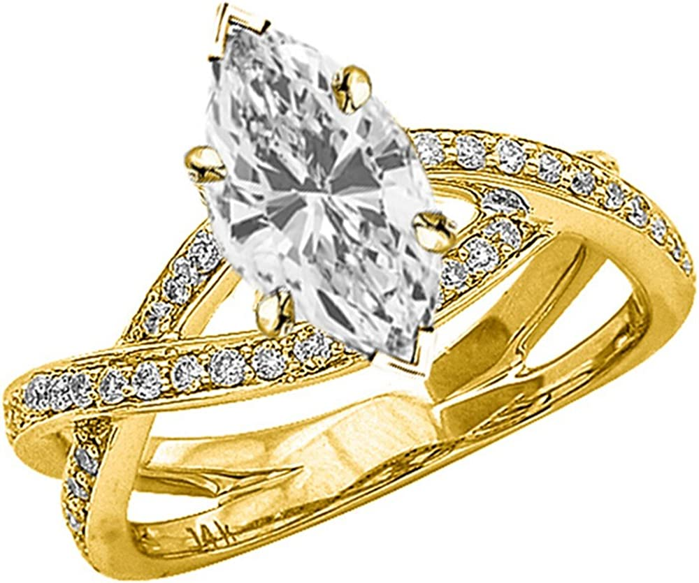 0.75 Al sold out. Ctw 14K White Gold Intertwine Love Eternity At the price of surprise Split Twisting