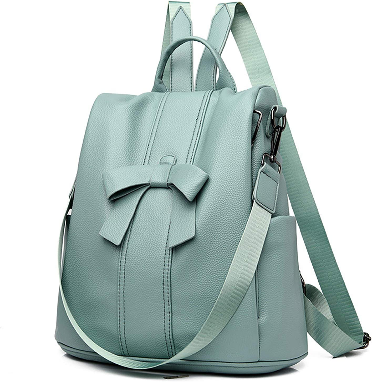 ZhaoZC Ladies Shoulder Bags, Backpack Purse for Women Fashion Leather Designer Travel Gift for Woman,Apple Green