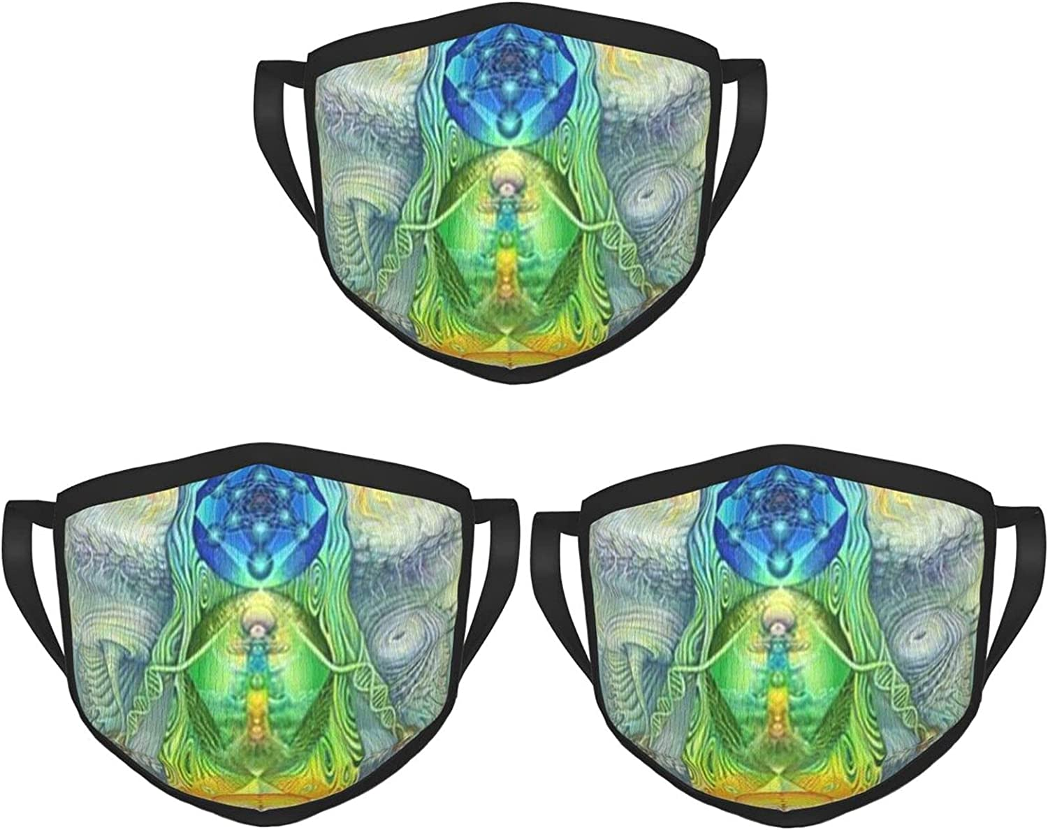 Balaclava Earmuffs Visionary Art Tree Of Life Psychedelic Chakra Spiritual Face Mouth Cover Mask Reusable Windproof Scarf Towel Cover Headwrap