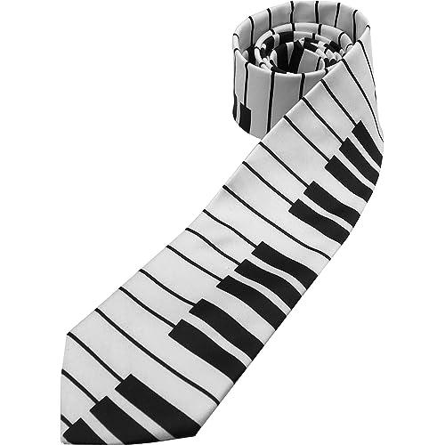 Black /& White PIANO Keyboard Music Theme Man/'s Neck Tie