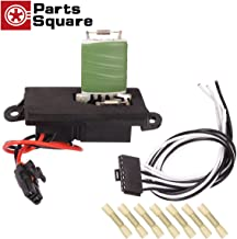 PartsSquare Manual HVAC Blower Motor Resistor 15305077 + 15862656 Wire Harness Connector Replacement for CHEVROLET AVALANCHE 1500 2002-2006 Compatible with CHEVROLET SILVERADO 1500 2001-2004