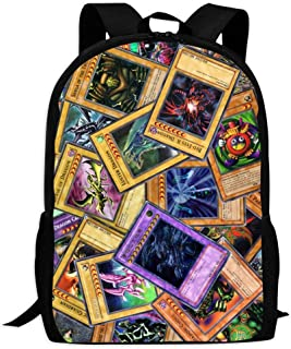 BEKAI Cool Yu-GI-Oh Cards | Comfortable & Light School Bags Multiple Pockets Backpack for Kids/Youth/Boys/Girls