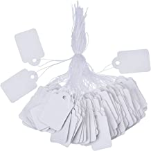 White Marking Tags Price Tags Price Labels Display Tags with Hanging String, 500 Pack (35 x 22 mm)