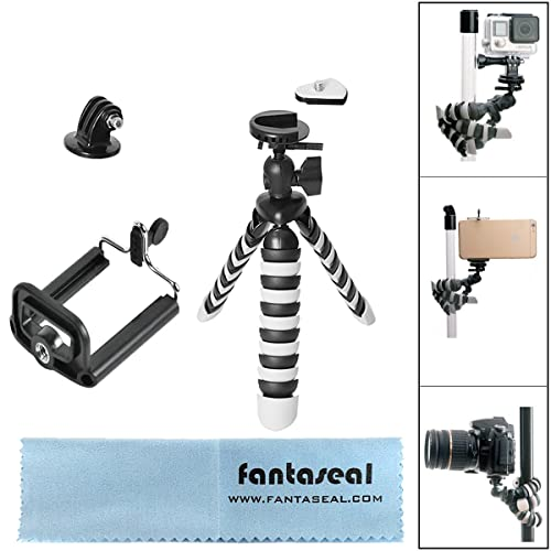 Fantaseal 8-inch 3in1 Mini Octopus Tripod Stand Compatible for Gopro Sony Action Camera, Smartphones, DSLR/Camcorder and More