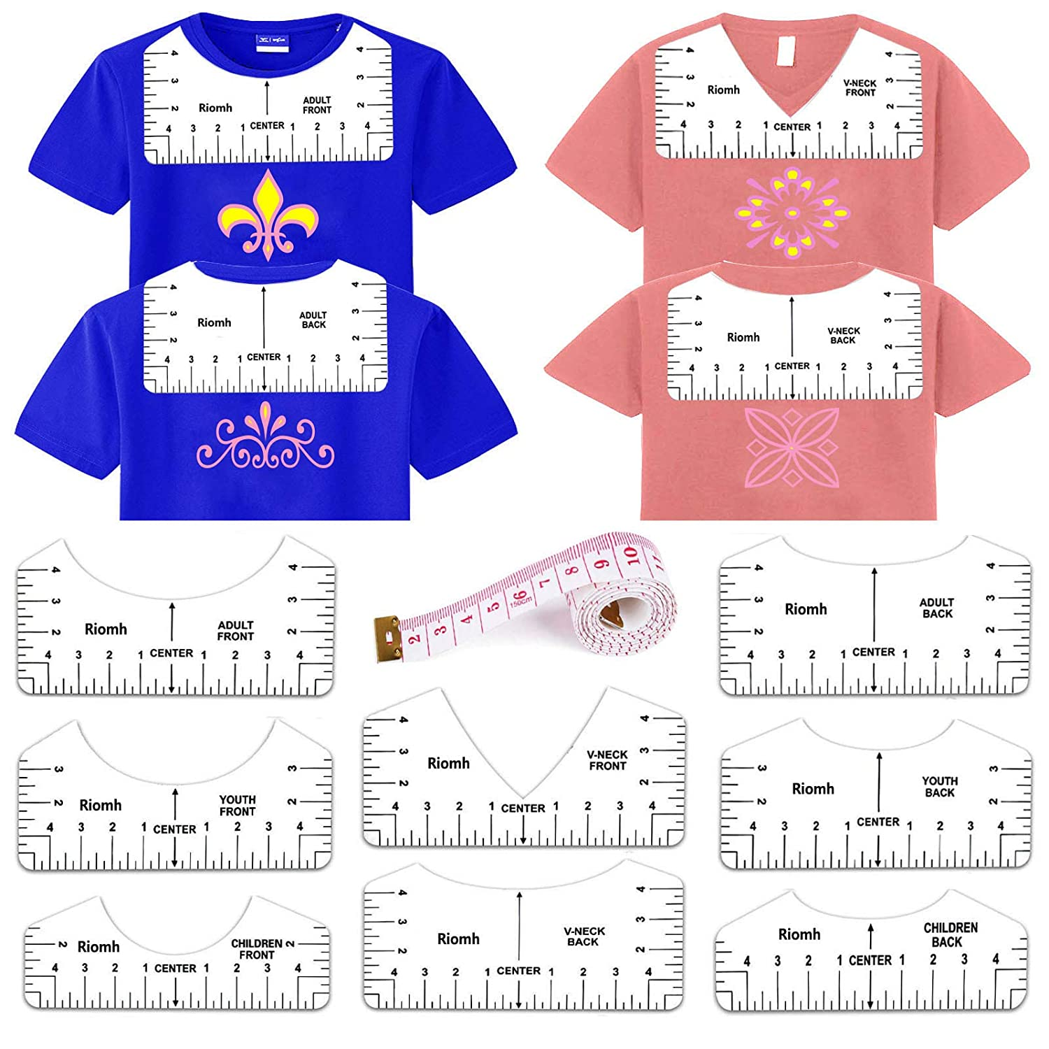 T-Shirt Alignment Guide Tool for Designing New York Mall Fro Back Gorgeous and Clothing