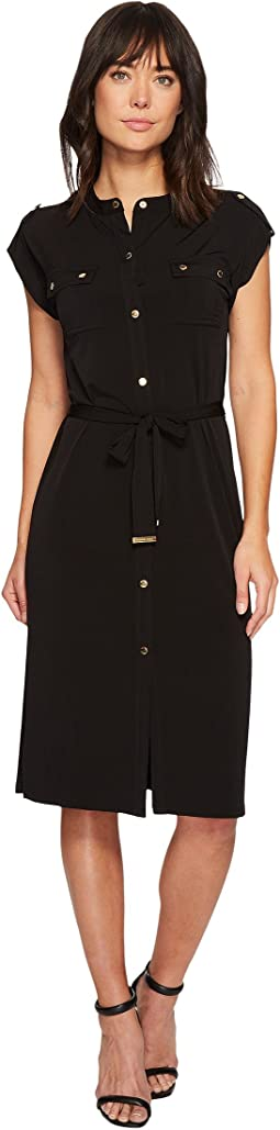 MICHAEL Michael Kors - Snap Sleeve Shirtdress