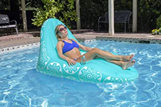 Poolmaster 85551 Imperial Lounge Deluxe Swimming Pool Float & Patio Furniture Multicolor