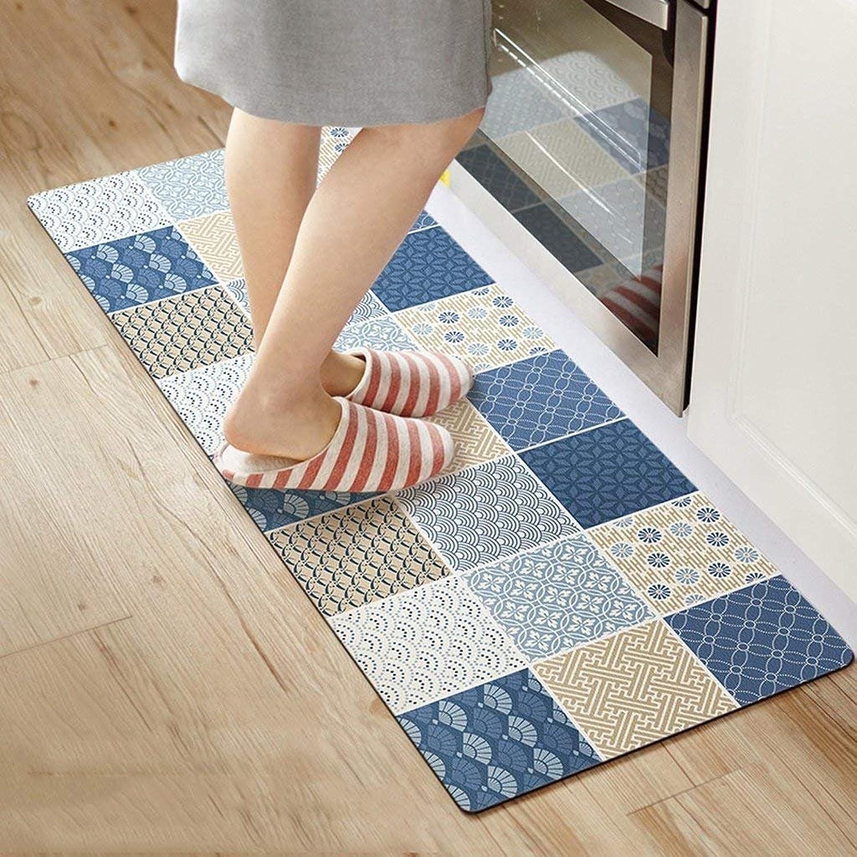JU Teppich-Lange Küchen-Matten Anti-Skid Pads Wasserdicht und Anti-l feuerfeste Matten Stripes Matten
