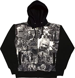 The Walking Dead Classic Image Sublimation Adult Mens Black Hoodie