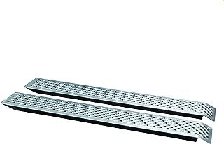 UNITEC 10320 Auffahrrampe Alu, Auto PKW Laderampe, Anhängerrampe, 2 Stück, besonders rutschsicher, bis zu 200 Kg / Stück Traglast, als Paar 400 Kg