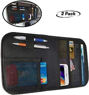 lebogner Car Sun Visor Organizer, 2 Pack Auto Interior Accessories Pocket Organizer, Registration and Document Holder, Personal Belonging Storage Pouch Organizer