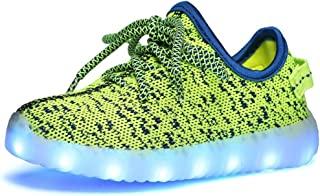 Led Light Up Shoes for Boys Girls Breathable USB Flashing Sneakers
