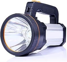 ALFLASH LED handschijnwerper 9000 lumen outdoor LED zaklamp draagbare lantaarn extreem helder USB oplaadbare CREE accu han...