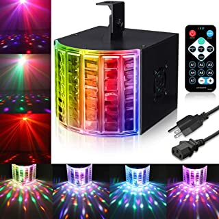 DJ Lights, SOLMORE Party Lights DMX512 Sound Actived Stage Disco Lights Light Beams with Remote Control for Dance Parties Bar Karaoke Xmas Wedding Show Club 18W