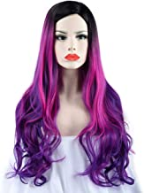 SEIKEA Women Wig Long Wavy Curly Hair Color Ombre Cosplay Costumes 30 Inch