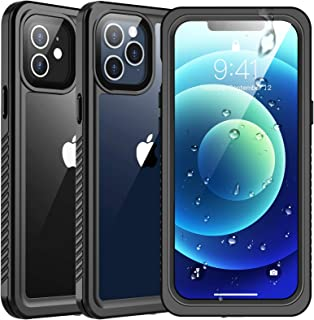 SPIDERCASE for iPhone 12 Case/for iPhone 12 Pro Case, Waterproof Built-in Screen Protector Full Body Camera&Screen Protective Case, Anti-Scratch Rugged Case for iPhone 12/for iPhone 12 Pro 2020