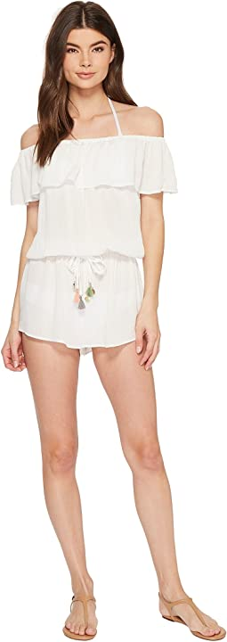 Besties Ruffled Romper Cover-Up