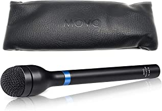 Movo HM-M2 Dynamic Omnidirectional Handheld Interview Microphone with 3-Pin XLR Connector