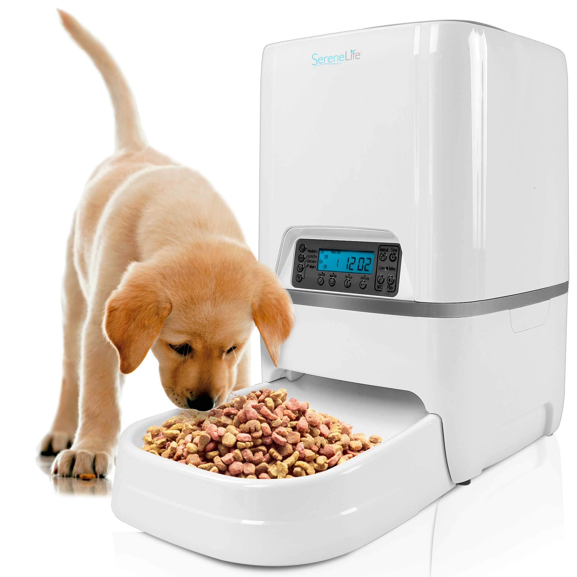 SereneLife Automatic Pet Feeder Built