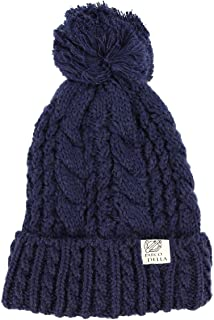 Knit Pom Bobble Hats Plain Basic Twisted Knit Hat Winter Snowboard BH-03