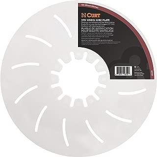 CURT 16722 White 5th Wheel Hitch Lube Plate, 12-Inch Diameter