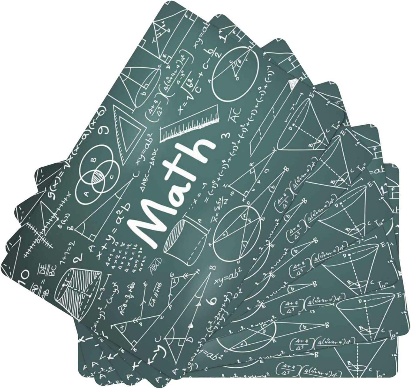 Math Miami Mall Theory and Mathematical Recommendation Formula Leather of 6 Table Set Mats