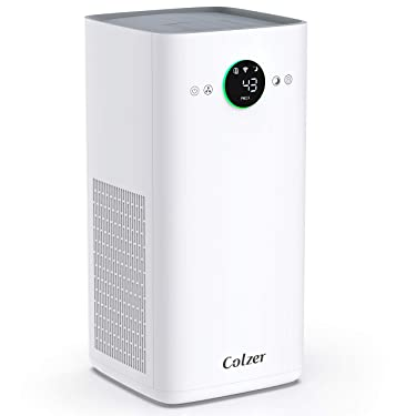 COLZER KJ580 Air Purifier with True HEPA Air Filter,Intelligent Wi-Fi App Control, 3-Stage Filtration, for Spaces Up to 1100 Sq Ft, Perfect for Bedroom/Home/Office with Filter