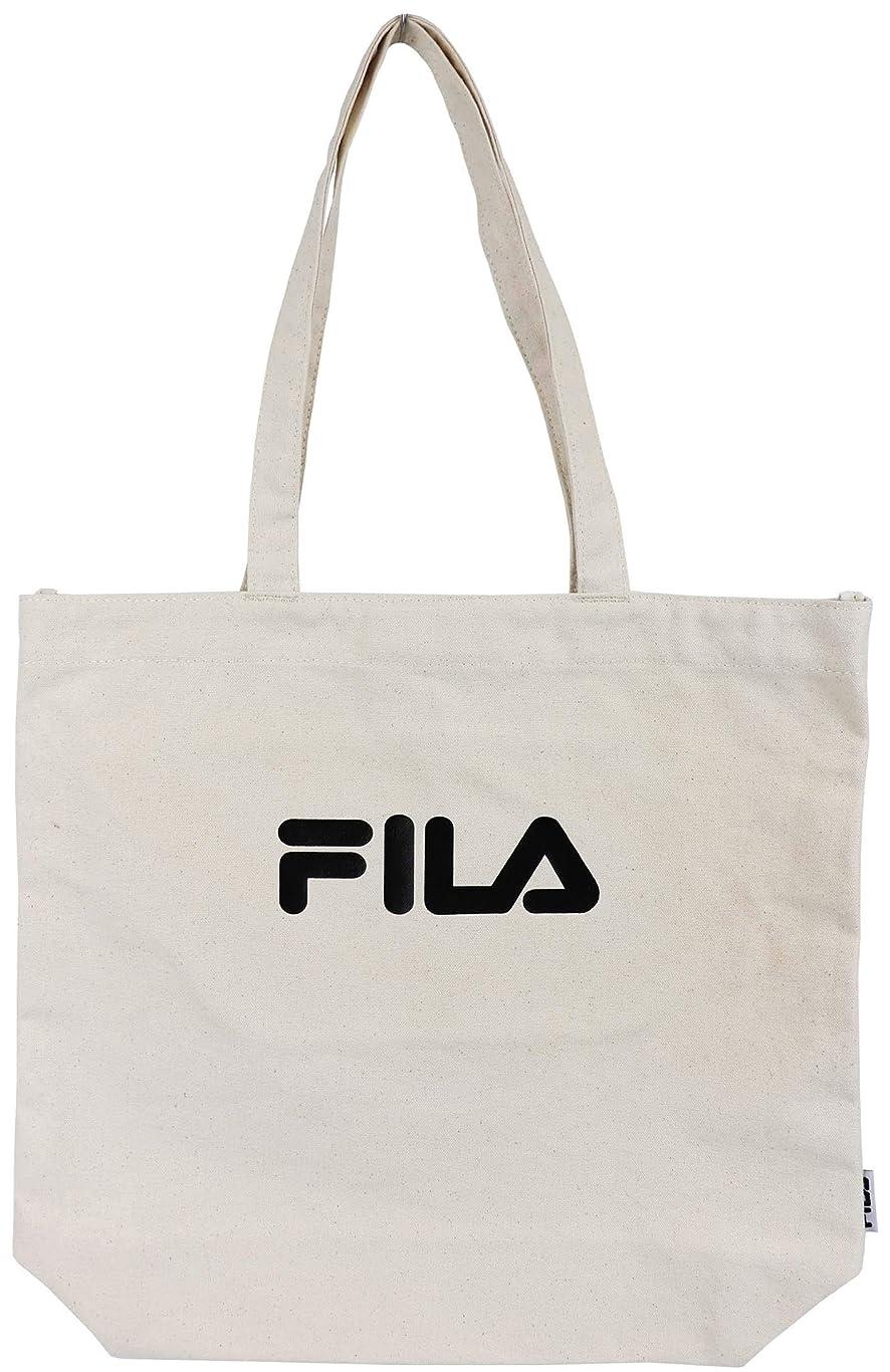 裁定必要としている校長FILA(フィラ) 帆布トートバッグ 肩掛け 軽量 通勤通学 サブバッグ エコバッグ 縦型 ユニセックス