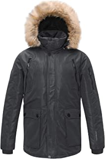 Mens Thickened Down Jacket Hooded Long Parka Padded Coat