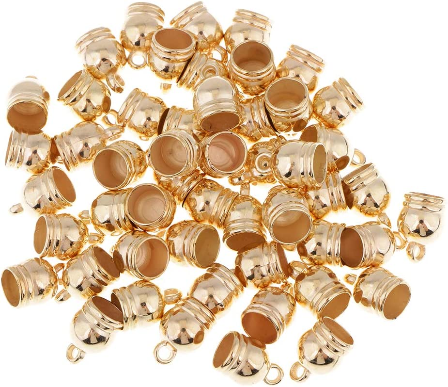 dailymall 50Pcs Jewelry End Cap Bel Bracelet Miami Mall excellence Findings Beads Caps