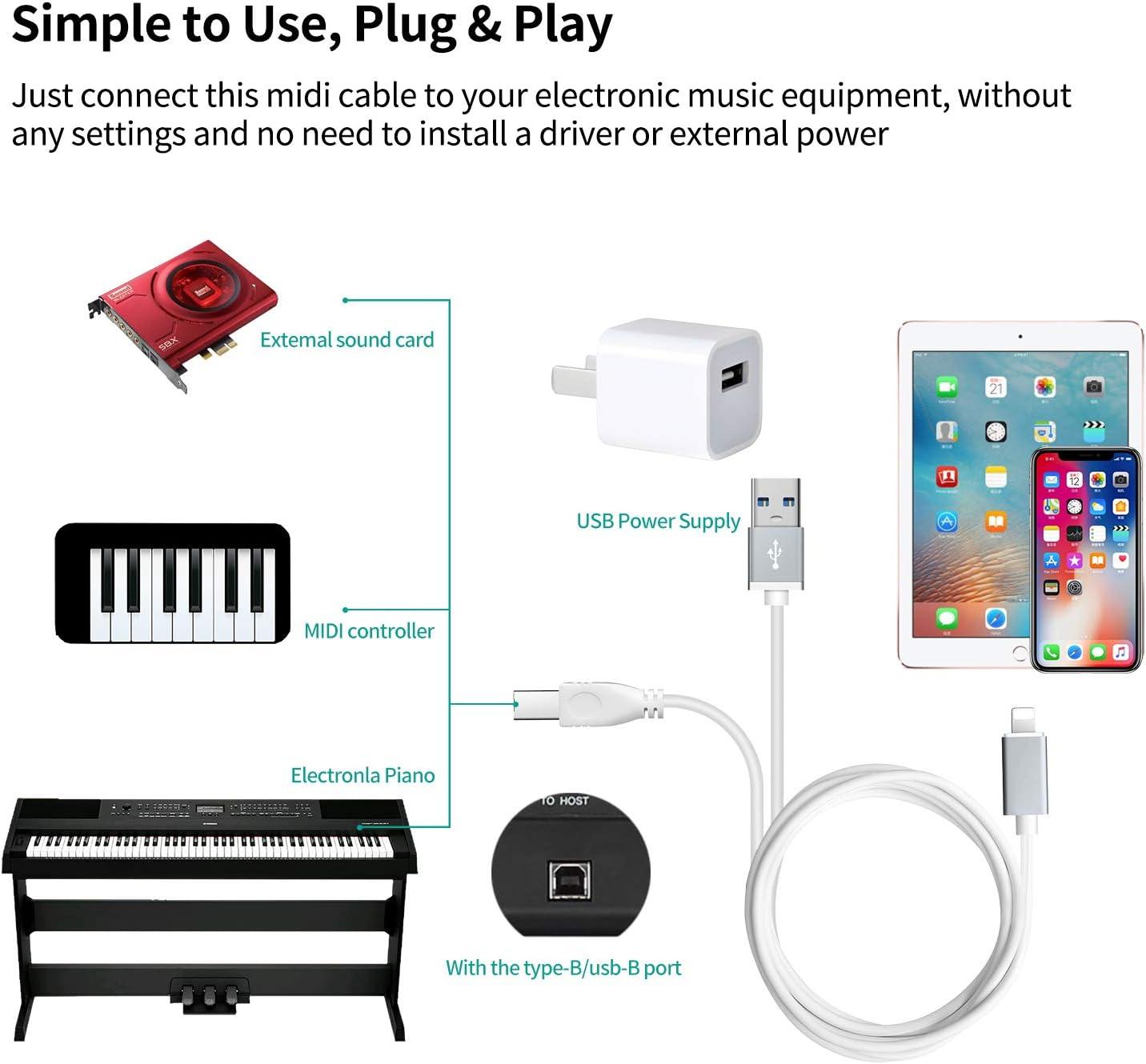 Cable adaptador OTG para Pad Phone 8//7//6 8 pines a USB 2.0 Adaptador USB 2.0 Type-B OTG
