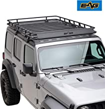 EAG 4 Door Roof Rack Cargo Basket with Wind Deflector Fit for 18-19 Jeep Wrangler JL